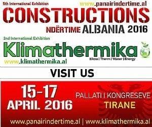 "5th International Exhibition "" Constructions Ndertime – Klimathermika "" ALBANIA 2016"